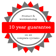 10 year guarantee on products and workmanship of cladding Central Coast