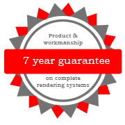 7 year guarantee on products and workmanship of rendering Central Coast
